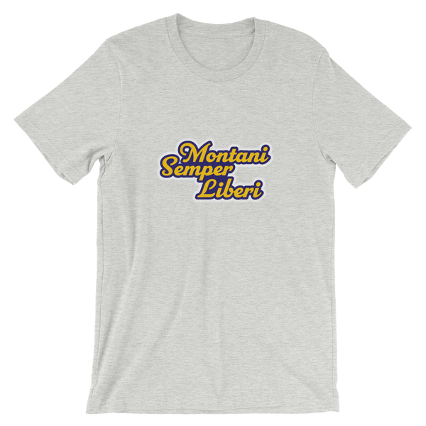 Montani Semper Liberi Bella Canvas Short-Sleeve Unisex T-Shirt