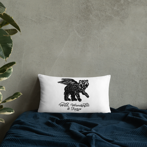 Wild Wonderful and Fierce Throw Pillow