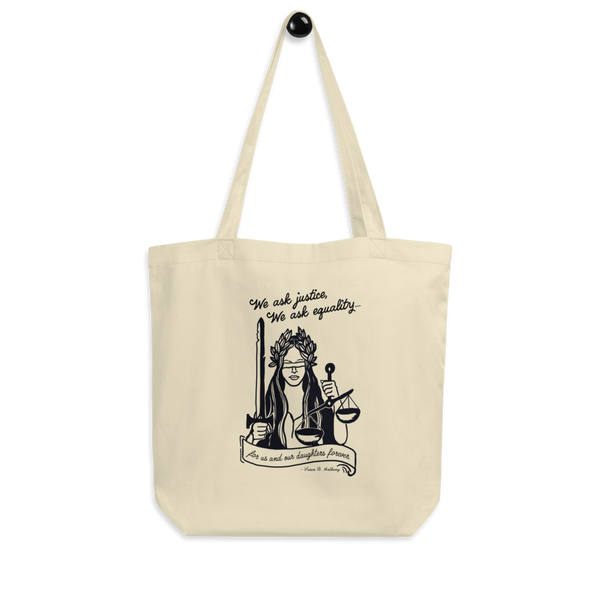 Lady Justice Oversized Eco Tote Bag