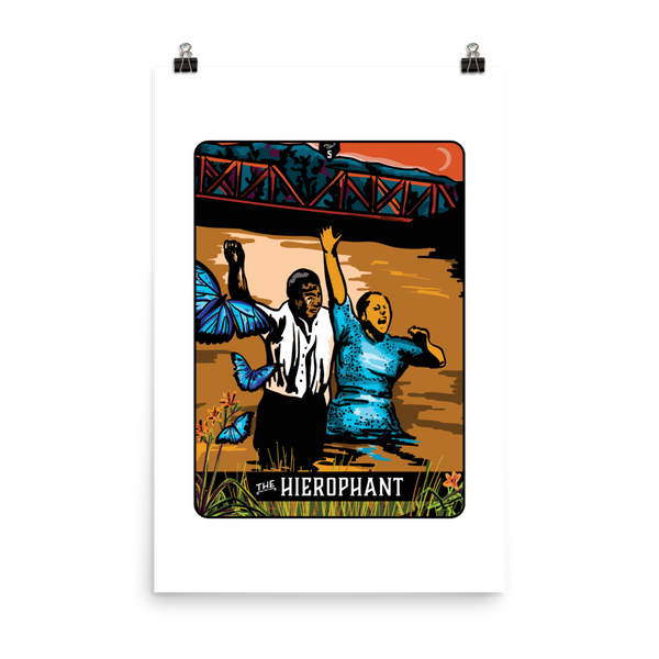 Appalachian Tarot Card: The Hierophant Print