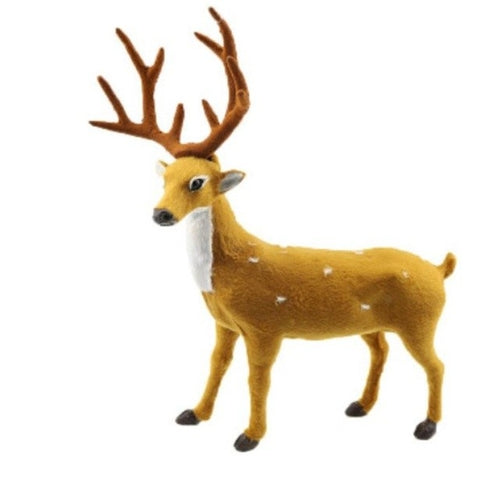 Creative Christmas Deer Scene Arrangement Props