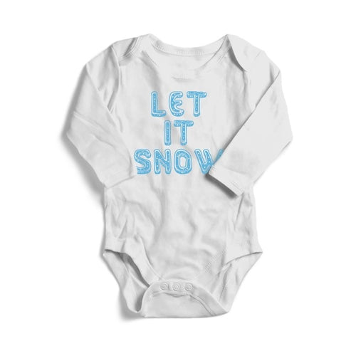 Let It Snow Christmas Baby Long Sleeve Bodysuit