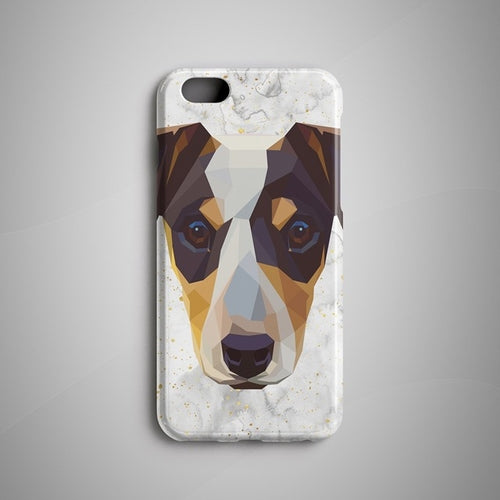 Geometric Jack Russell Terrier iPhone X Case
