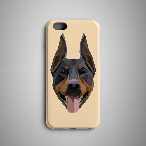 Geometric Doberman Pinscher iPhone X Case iPhone 8