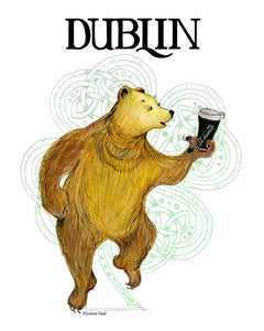 Benjamin D. Bear in Dublin Tea Towels & Cards