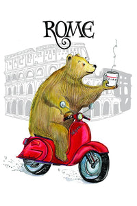 Bear in Rome card