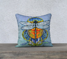 Load image into Gallery viewer, Celtic Dragonfly pillow
