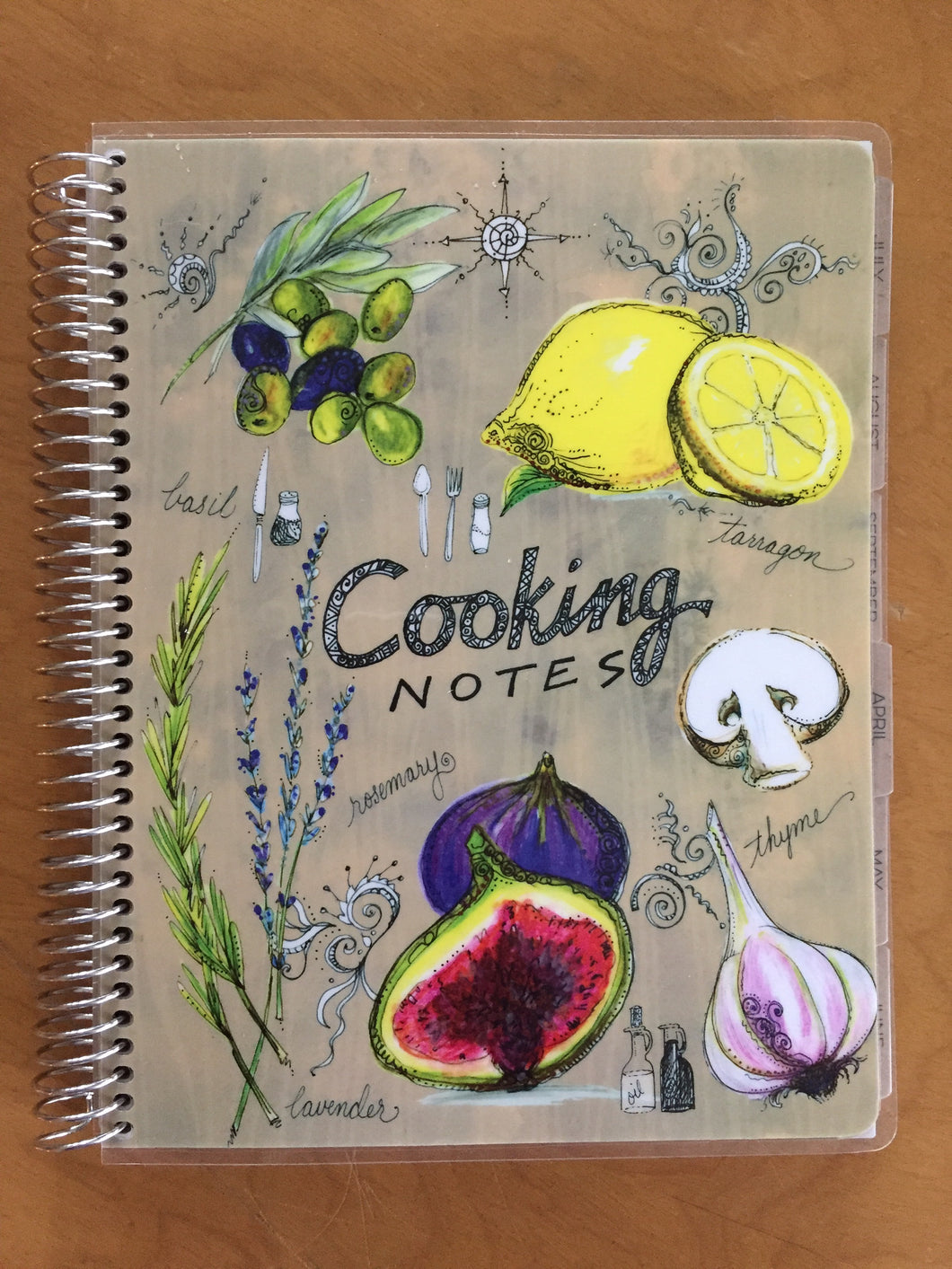 Cooking monthly planner