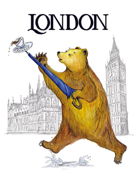 Bear in London card