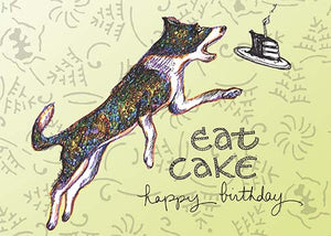 Dog & Cake Birthday Card