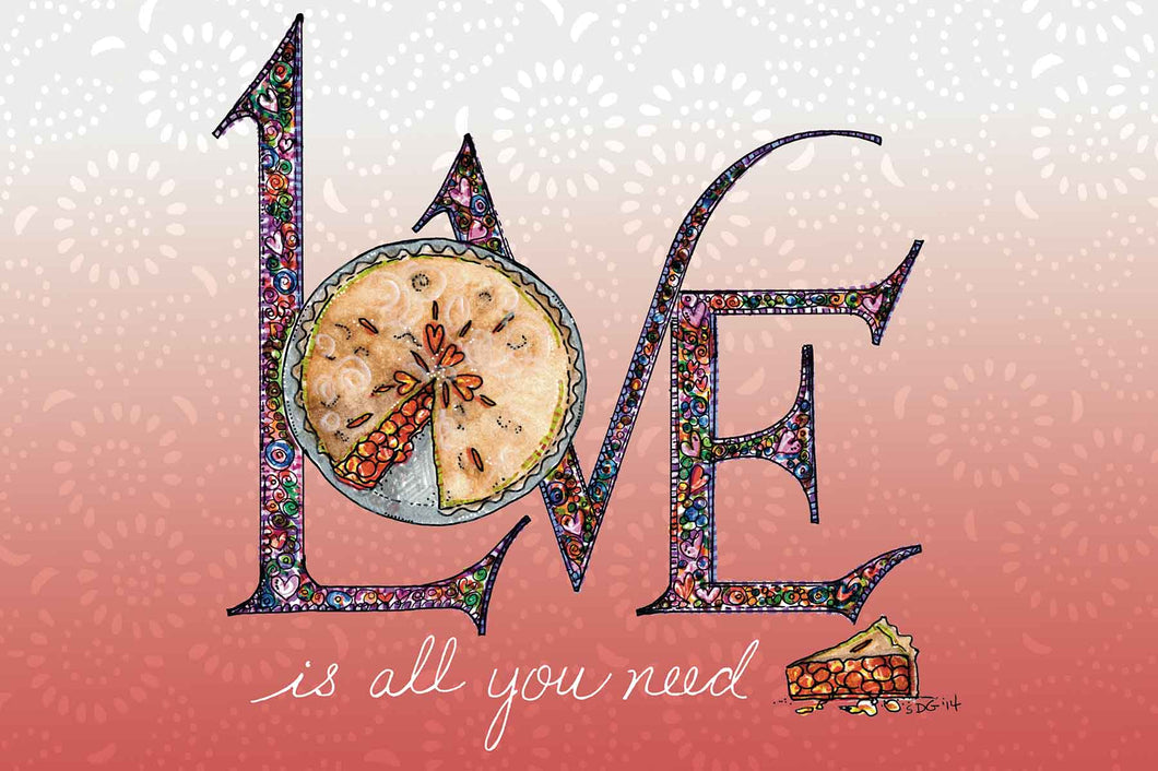 Love & Pie card