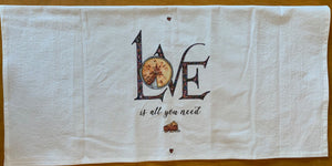 LOVE is all you need Kitchen Towel