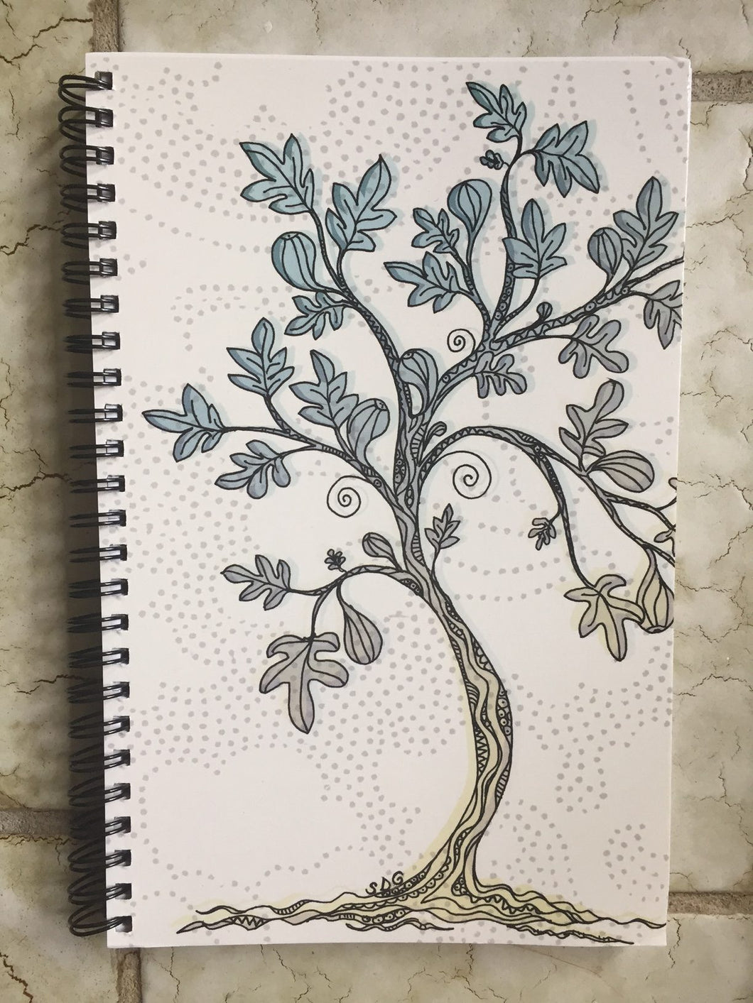 Fig Tree spiral notebook