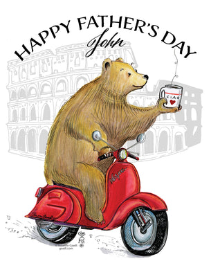 Father's Day cards with the Traveling Bear