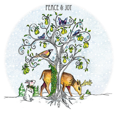 Peace & Joy tea towel