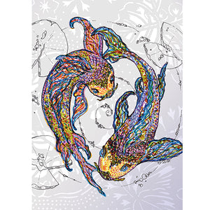 Koi Fish Equal Love Card