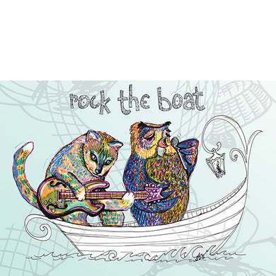 Rock the Boat card