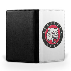 Aberdeen Lynx Logo White Passport Case