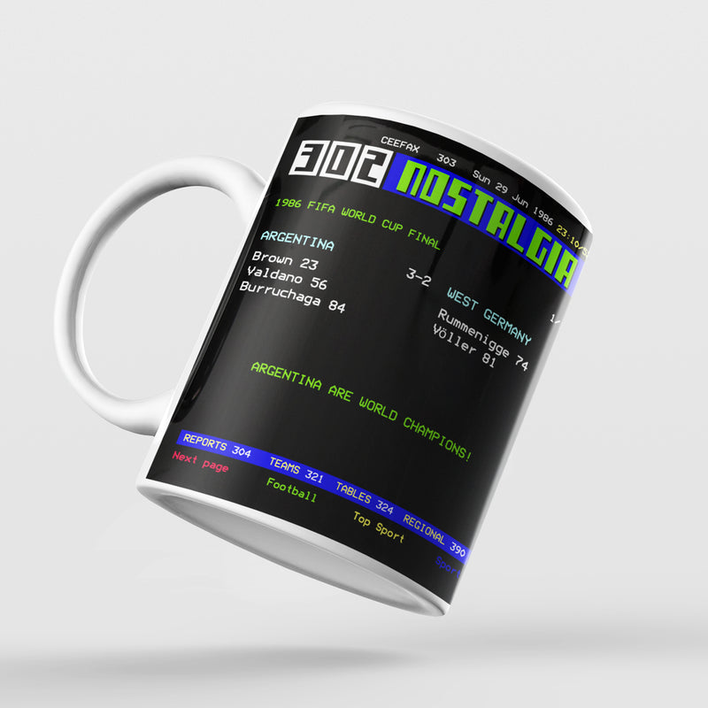 Personalised Ceefax Match Result Mug