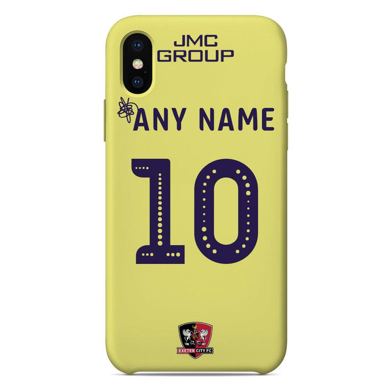 Exeter City F.C. 2019/20 Away Shirt Name & Number Personalised Phone Case