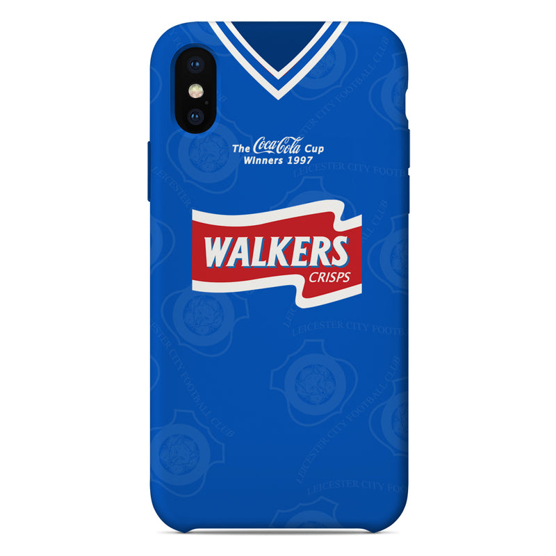 Leicester City 1996-1998 Coca Cola Cup Winners Home Shirt Phone Case