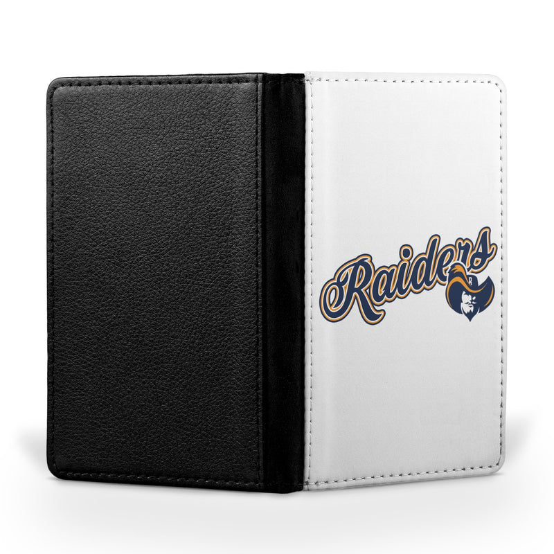 Raiders Logo White Passport Case