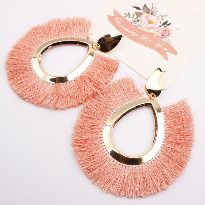 TASSLE FRINGE EARRINGS