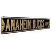Anaheim Ducks Steel Street Sign-ANAHEIM DUCKS AVE