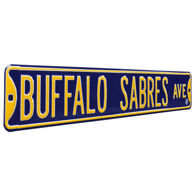Buffalo Sabres Steel Street Sign-BUFFALO SABRES AVE