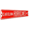 Carolina Hurricanes Steel Street Sign-CAROLINA HURRICANES AVE