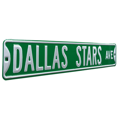 Dallas Stars Steel Street Sign-DALLAS STARS AVE