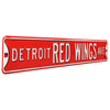 Detroit Red Wings Steel Street Sign-DETROIT RED WINGS AVE