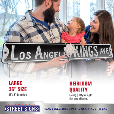 Los Angeles Kings Steel Street Sign-LOS ANGELES KINGS AVE