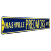 Nashville Predators Steel Street Sign-NASHVILLE PREDATORS AVE