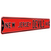 New Jersey Devils Steel Street Sign-NEW JERSEY DEVILS AVE