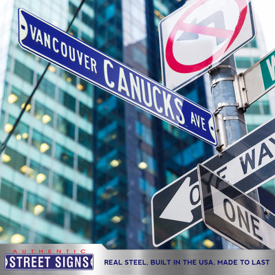Vancouver Canucks Steel Street Sign-VANCOUVER CANUCKS AVE