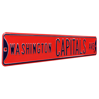 Washington Capitals Steel Street Sign-WASHINGTON CAPITALS AVE