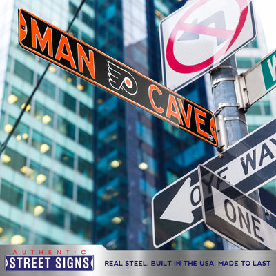 Philadelphia Flyers Steel Street Sign with Logo-MAN CAVE