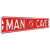 New Jersey Devils Steel Street Sign with Logo-MAN CAVE