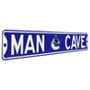 Vancouver Canucks Steel Street Sign with Logo-MAN CAVE