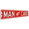 Detroit Red Wings Steel Street Sign with Logo-MAN CAVE