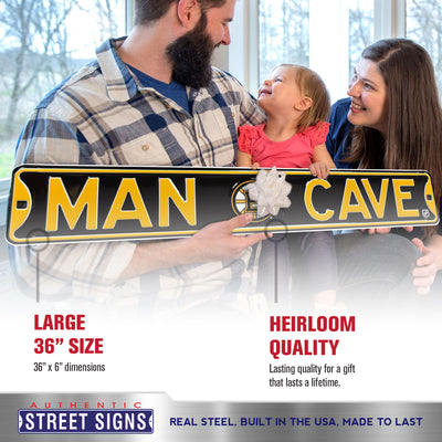Boston Bruins Steel Street Sign with Logo-MAN CAVE