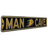 Anaheim Ducks Steel Street Sign with Logo-MAN CAVE