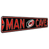 Carolina Hurricanes Steel Street Sign with Logo-MAN CAVE