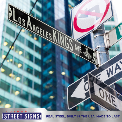 Los Angeles Kings Steel Street Sign with Logo-LOS ANGELES KINGS AVE  2012 SC Champs