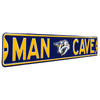 Nashville Predators Steel Street Sign with Logo-MAN CAVE