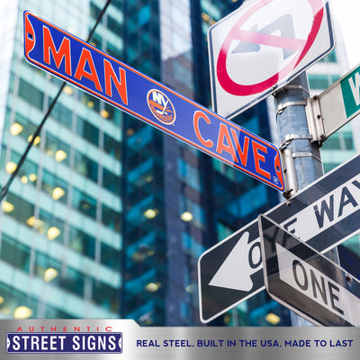 New York Islanders Steel Street Sign with Logo-MAN CAVE