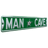 Dallas Stars Steel Street Sign with Logo-MAN CAVE