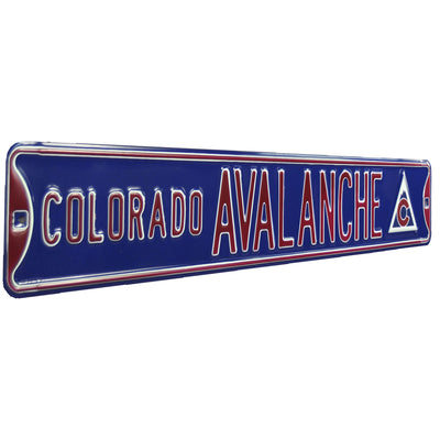 Colorado Avalanche Steel Street Sign with Logo-COLORADO AVALANCHE