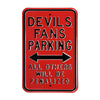 New Jersey Devils Steel Parking Sign-ALL OTHER FANS PENALIZED